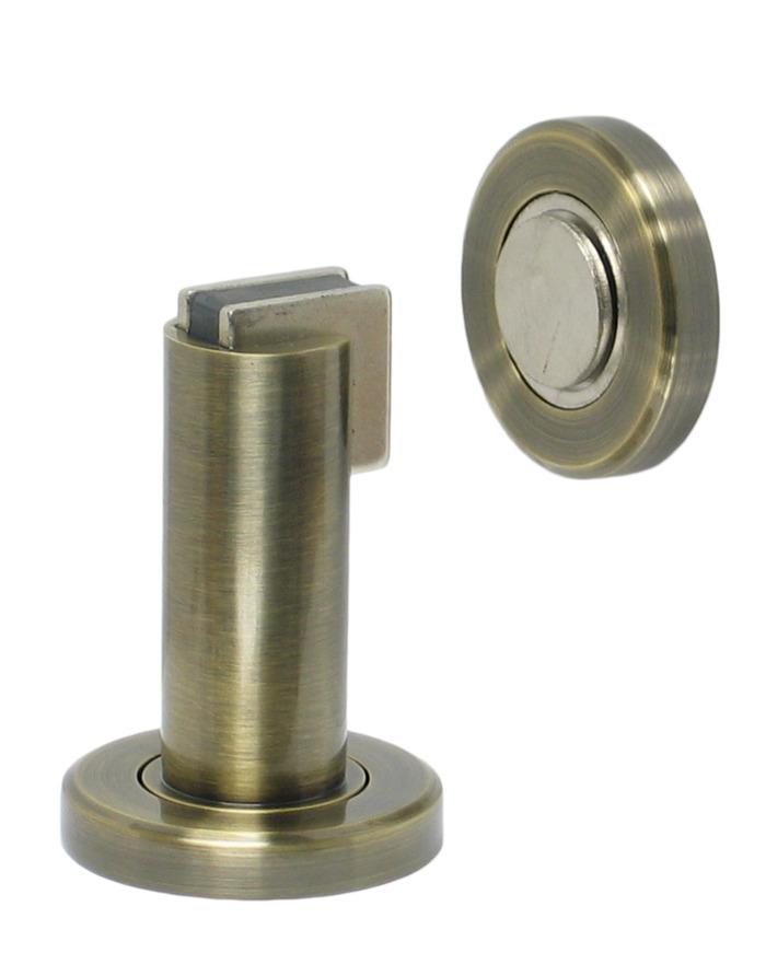 Magnetic Door Stop   Antique Brass