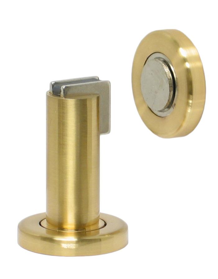Magnetic Door Stop   Satin Brass
