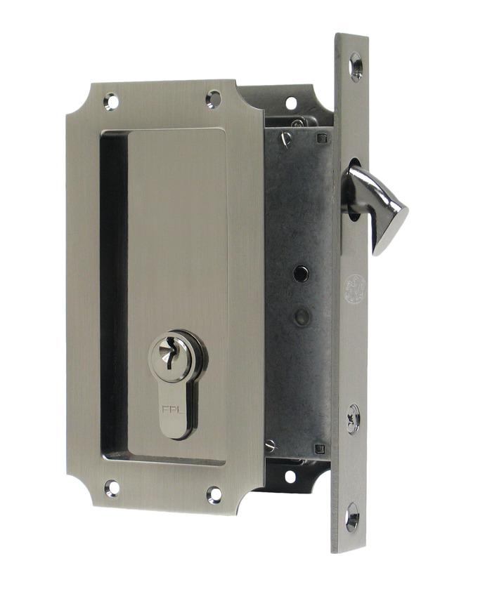 ... Manor Pocket Lock - Single Keyed, Antique Nickel by FPL Door Locks &  Hardware Inc - Mount Vernon Fenestration Industry Supplier - FPL Door Locks